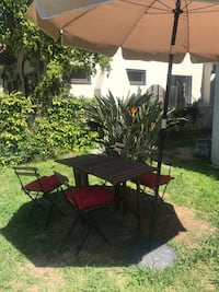 Garden set of table and chairs and umbrella Los Angeles, 90019