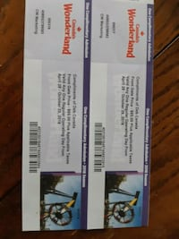 Canada' Wonderland Tickets St. Catharines, L2P 0B2