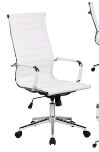 White Leather High Back Desk/Office Chair Kitchener, N2E 3W5