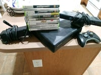 black Xbox 360 console with controller and game ca San Tan Valley, 85143