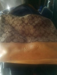brown monogrammed Coach leather hobo bag Whittier, 90603