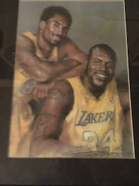 Kobe Bryant and Shaq painting