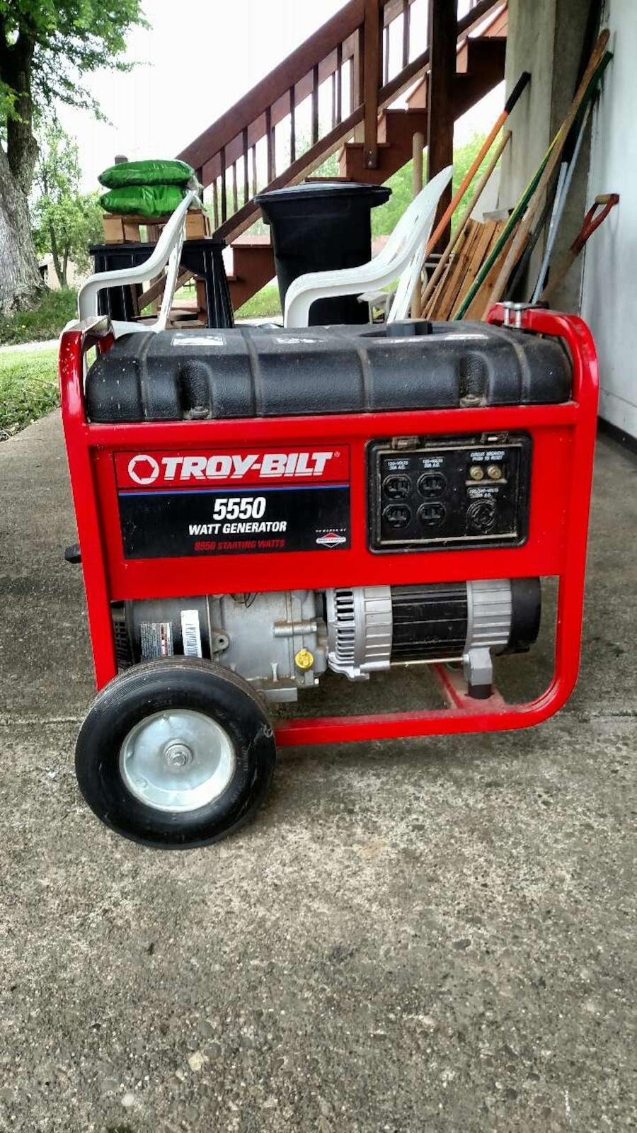 troy bilt 5550 watt generator manual