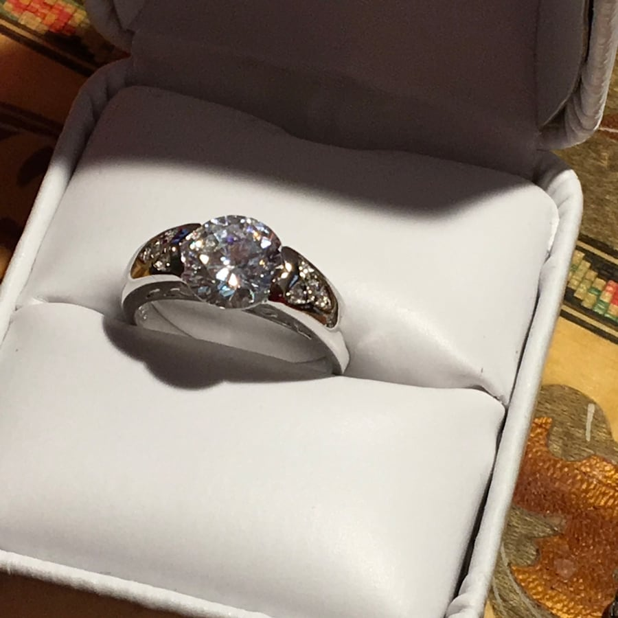 925 2 ct solitaire ring