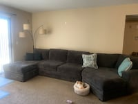 Dark Grey sectional couch.   Anaheim