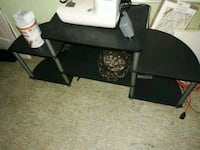 black and gray TV stand Waterloo, 50703