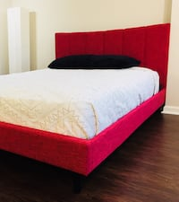 New Red Modern Queen Bed  Silver Spring