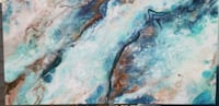 Turquoise/Brown/Teal Glossed Oil Painting Brentwood
