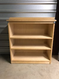 Small wooden bookshelf