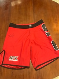 "Autographed Jon ""bones"" Jones fight shorts"