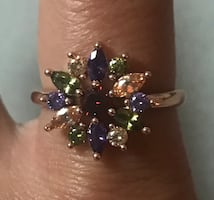 ring red purple green size 8/9