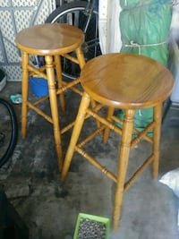 two brown wooden bar stools Moorpark, 93021