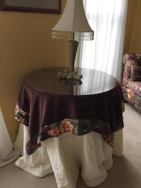 Large round accent table and lamp Ellicott City