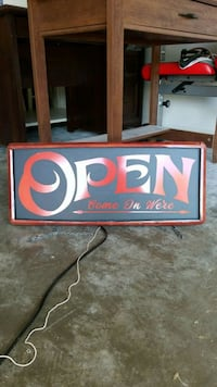 Open sign with mount chains and power chord Boiling Springs, 29316