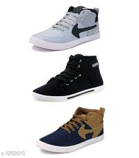 Classy Men's Synthetic Casual Shoes ( Pack Of 3) Varanasi