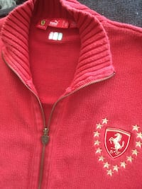 PUMA SF red full zip knit sweater Surrey, V4N 0Y7