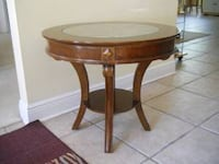 Side Table Stand with Glass Top Boston