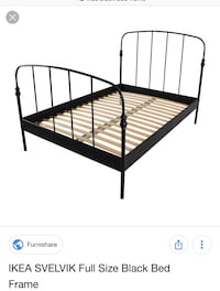 Ikea black metal bed and slats Lincoln, L0R