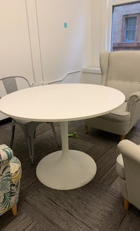 Round table - modern, white