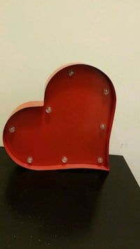 Red tin heart wall hanging Revere, 02151