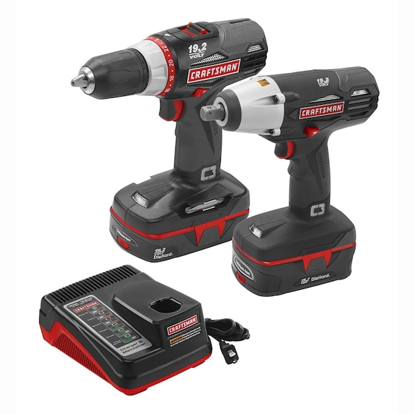 Craftsman C3 19 2 Volt Drill and Impact Driver Combo Kit