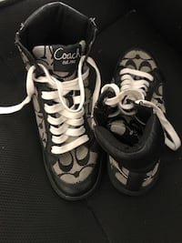pair of black-and-white Coach sneakers Fairfax, 22033