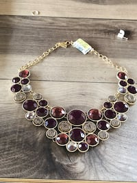 gold-colored and purple beaded necklace Riverside, 92505