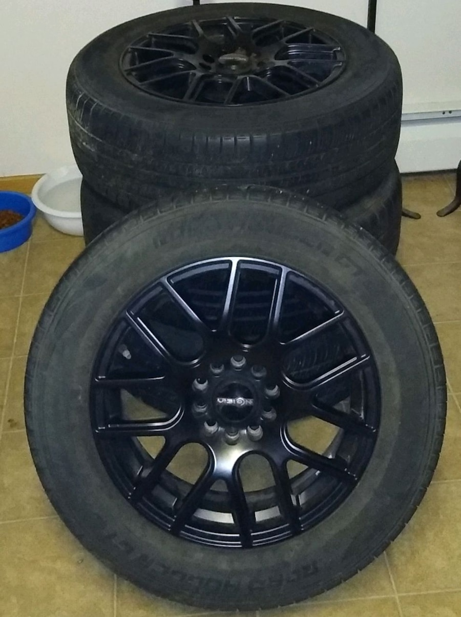 Photo Used 16 inch rims and tires