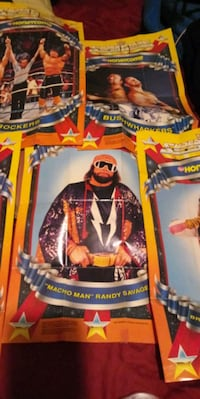 6- 1990's mini wrestling posters for the Real Fans
