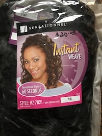 New Color 1B - Instant Weave 100% Synthetic Hair