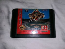 SEGA GENESIS World Series Baseball Game cartridge Vintage