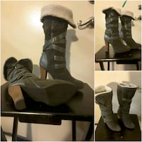 Size 9 olive green fall and winter boot London, N6B 1X9