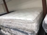 white and gray floral mattress Baltimore, 21231