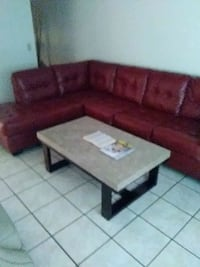 brown leather sectional couch with ottoman Lauderhill, 33313