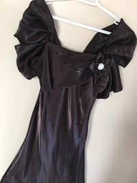 Long brown Girl dress, size,S Calgary, T2A 4H7