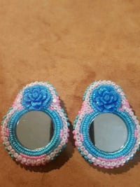 two blue and pink beaded bracelets Edmonton, T5G 1H3