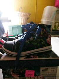 black and green high-top sneaker