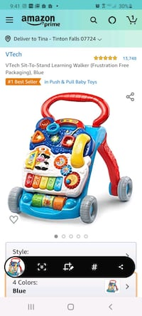 Vtech Sit to Stand Learning Walker -New Tinton Falls, 07724