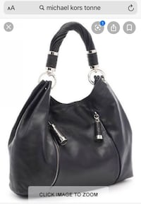 Michael Kors Black Tonne Hobo Bag Vaughan