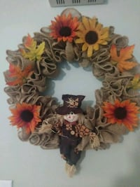harvest time burlap wreath Nashua, 03060