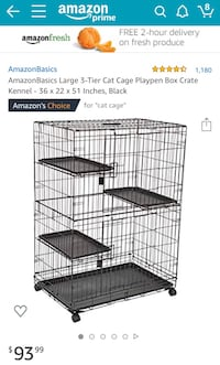Collapsible Multilevel Pet/Cat/Rabbit/Ferret Cage