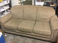Brown fabric 3-seat sofa Fayetteville, 72701