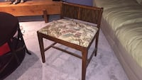 brown wooden framed brown floral padded bench Hamilton, L8P 3Y6