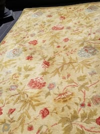 white and pink floral area rug Toronto