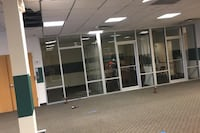 Glass wall and doors
