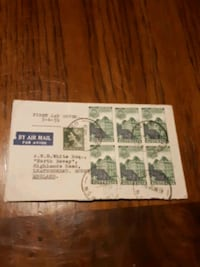 First day cover 1959 Australia 4 post stamps