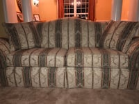 Gray and brown floral 3-seat sofa Clinton, 20735