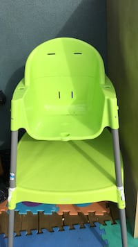 Baby's green high chair