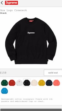Supreme FW18 Box Logo Sweater Kelowna