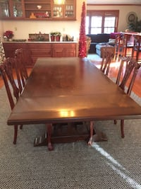 rectangular brown wooden dining table FORTEUSTIS